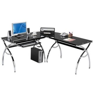 Techni Mobili RTA-0039LC-BK L-Shaped Computer Desk - Black