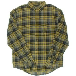 G.H. Bass & Co. Mens Fireside Flannel Plaid Button-Down Shirt