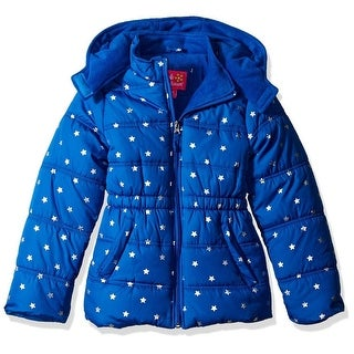 Pink Platinum Girls 4-6X Metallic Star Puffer Jacket