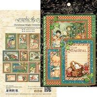 "Christmas Magic Ephemera Cards-(16) 4""X6"" & (16) 3""X4"""