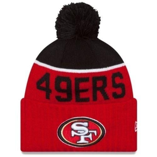 Shop New Era NFL 2015 Sideline Knit Pom Beanie Hat - San Francisco 49ers -  Free Shipping On Orders Over  45 - Overstock.com - 18617656 c636dd5c0