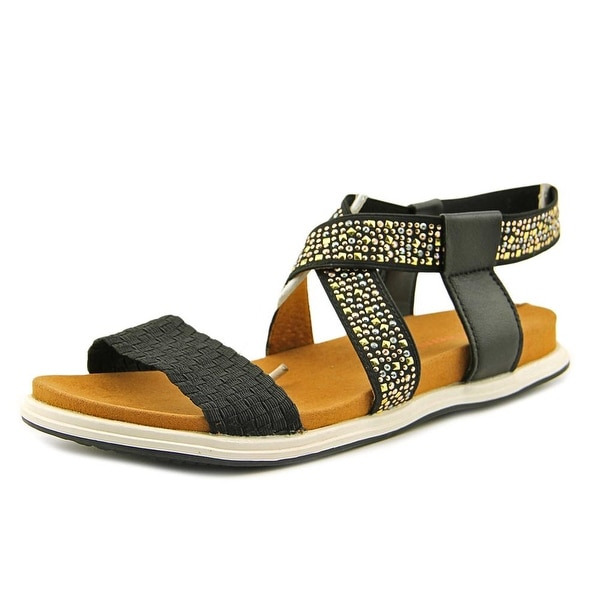 Bernie Mev. Blanche Women Open-Toe Canvas Black Slingback Sandal