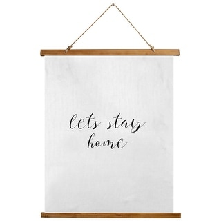 Let S Stay Home Scroll Tapestry By Kavka Designs 26x36 On Sale Overstock 31288439