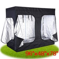 Costway Indoor Grow Tent Room Reflective Hydroponic Non Toxic Clone Hut 6 Size (96''X48''X78'')