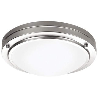 "Forecast Lighting F245036U 1 Light 10.63"" Wide Flush Mount Ceiling Fixture from the West End Collection - Satin Nickel"