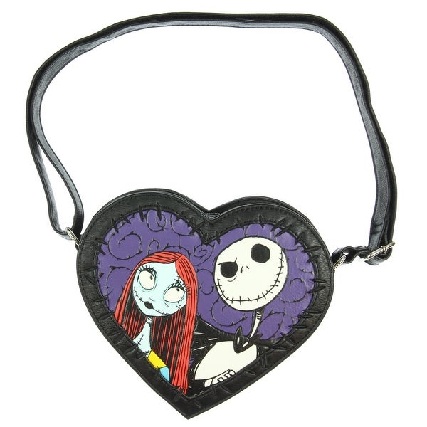 d30fe541e61 Loungefly The Nightmare Before Christmas Jack And Sally Heart Crossbody Bag  - One Size Fits most