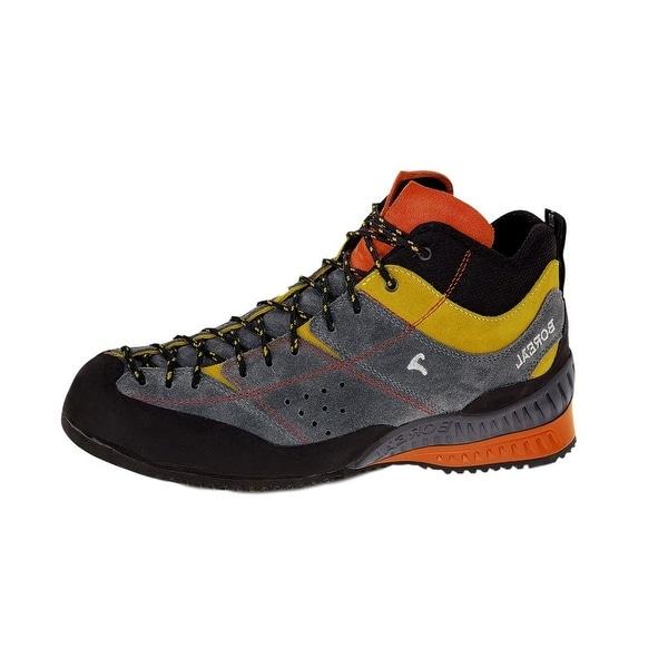 Boreal Climbing Boots Mens Flyers Mid Gray Yellow Orange