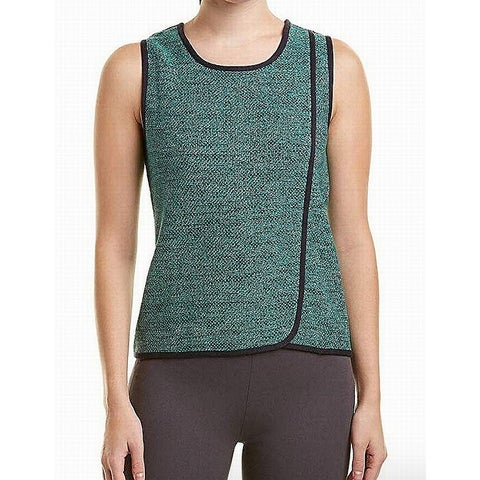 Nic + Zoe Green Womens Size XS Marled-Knit Scoop Neck Knit Top