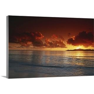 """Sunset at beach, view"" Canvas Wall Art"