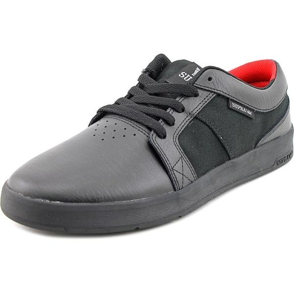 Supra Ineto Men Round Toe Leather Black Skate Shoe