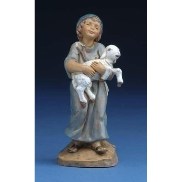 "Fontanini 5"" Silas Holding Sheep Christmas Nativity Figurine #57521"