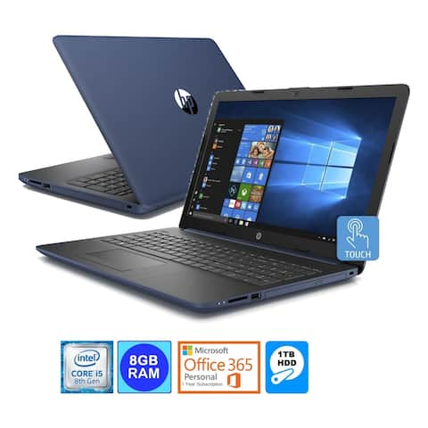 "HP 15.6"" TouchScreen Laptop Intel i5-8250U 8GB 1TB HDD Office 365 (Refurbished)"