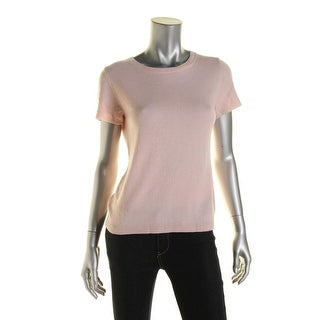 Private Label Womens Cashmere Short Sleeves Pullover Sweater