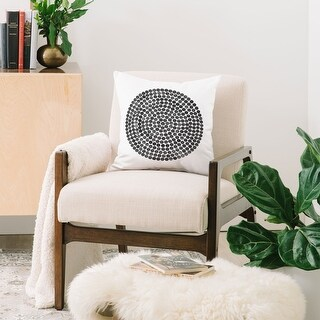 Link to Deny Designs Mandala Dot Black Reversible Throw Pillow (4 Size Options) Similar Items in Decorative Accessories