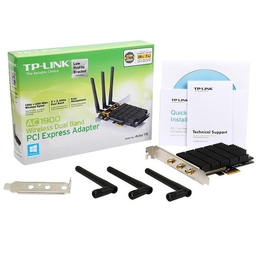 Tp-Link Ac1900 Wireless Dual Band Pci-Express Adapter With Beamforming  Technology (Archer T9e)