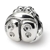 Sterling Silver Reflections Kids Ladybug Bead (4mm Diameter Hole)