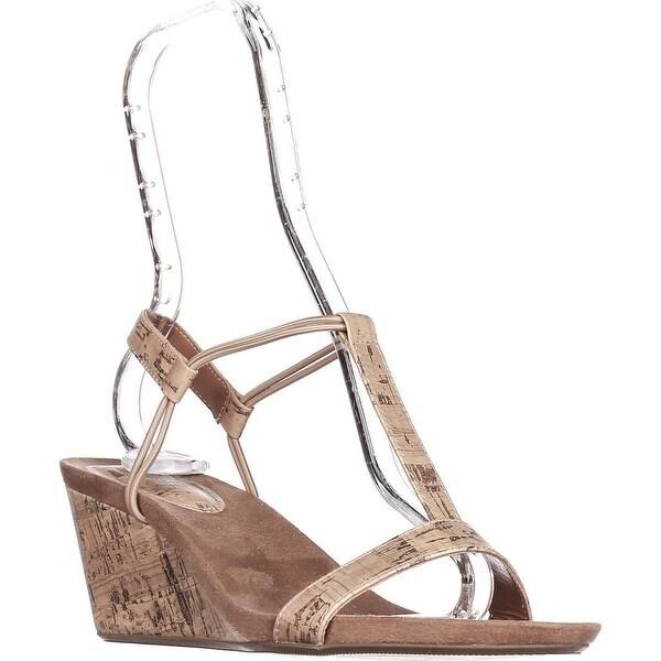 SC35 Mulan T-Strap Wedge Sandals, Cork