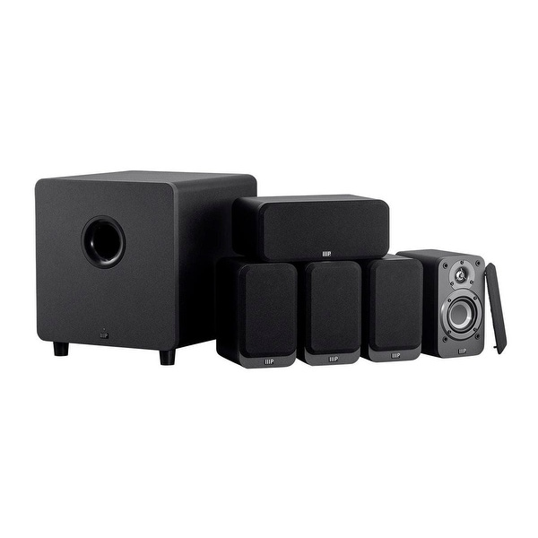 Monoprice Premium 5.1-Channel Home Theater System, Charcoal W/ Powered Subwoofer. Opens flyout.