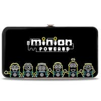 Electric Minions Pose + Minion Powered Black Yellow Blue White Hinged Wallet - One Size Fits most