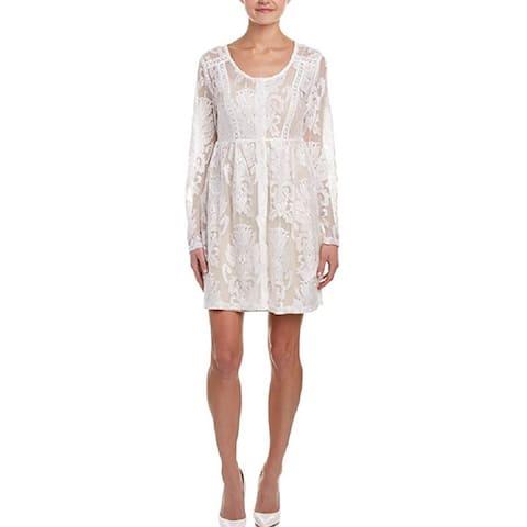 Minkpink Crime Of Passion Off White Mini Dress XS