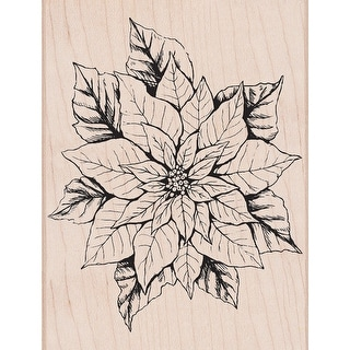 """Hero Arts Mounted Rubber Stamp 4""""X2""""-Antique Poinsettia"""