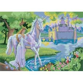 "Fairy Castle - Junior Large Paint By Number Kit 15.25""X11.25"""