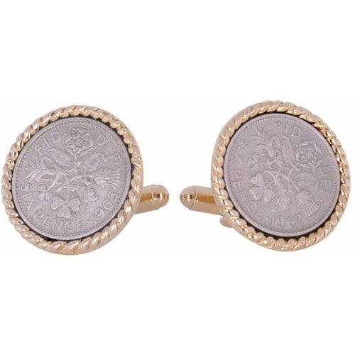 British Sixpence Coin Cufflinks Coin Collector Memorbilla