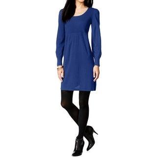 Spense Womens Petites Sweaterdress Wool Blend Scoop Neck