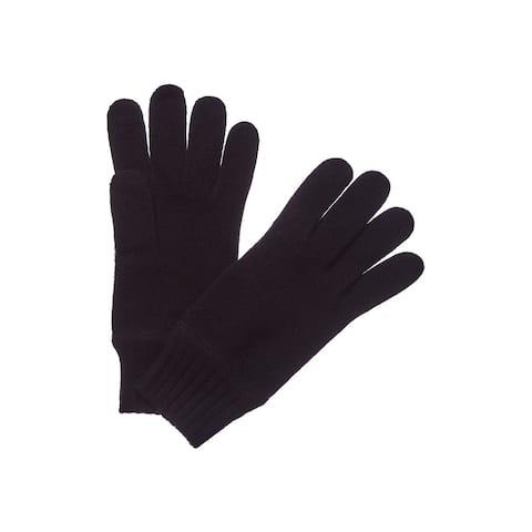 Portolano Men's Black Cashmere Gloves