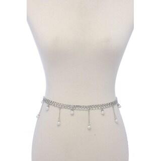 Pearl chain dangle belt