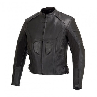 Men Motorcycle Biker Armor Leather Jacket by Xtreemgear Black MBJ021