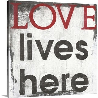 """Love Lives Here"" Canvas Wall Art"