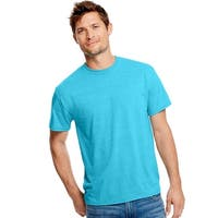 Hanes Men's X-Temp w/Fresh IQ Tri-Blend Performance Tee - Size - L - Color - Flying Turquoise Heather