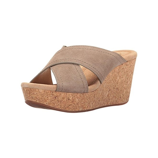 Splendid Womens Joan Wedge Sandals Cork Open Toe