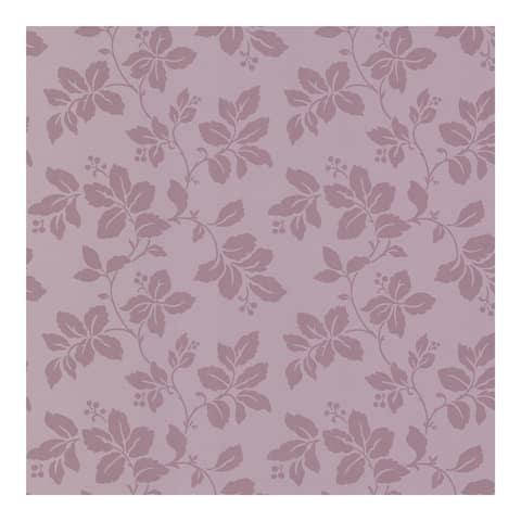Phoebe Purple Rose Leaf Trail Wallpaper - 396in x 20.5in 0.25in