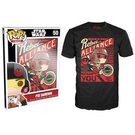 Funko Pop Black Star Wars Episode 7 Poe Propaganda T-Shirt