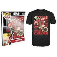Funko Pop Black Star Wars Episode 7 Poe Propaganda T-Shirt