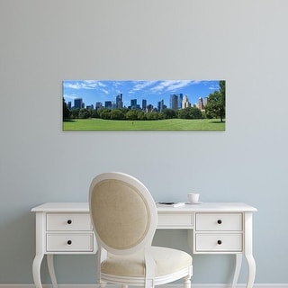 Easy Art Prints Panoramic Image 'Park, skyscrapers, Sheep Meadow, Central Park, Manhattan, New York City' Canvas Art