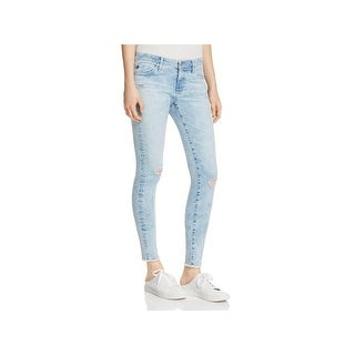 Adriano Goldschmied Womens Charming Skinny Jeans Acid Wash Distressed