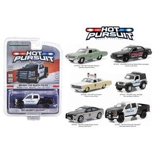 Hot Pursuit Series 18, 6pc Diecast Car Set 1/64 Diecast Model Cars by Greenlight
