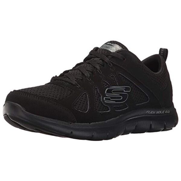 Skechers Sport Women's Flex Appeal 2.0 Simplistic Fashion Sneaker, Black, 9.5 C Us