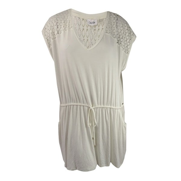 43910e02c9189 Shop Calvin Klein Womens Plus Size Crochet-Trim Cover-Up - Free Shipping On  Orders Over  45 - Overstock - 21530575