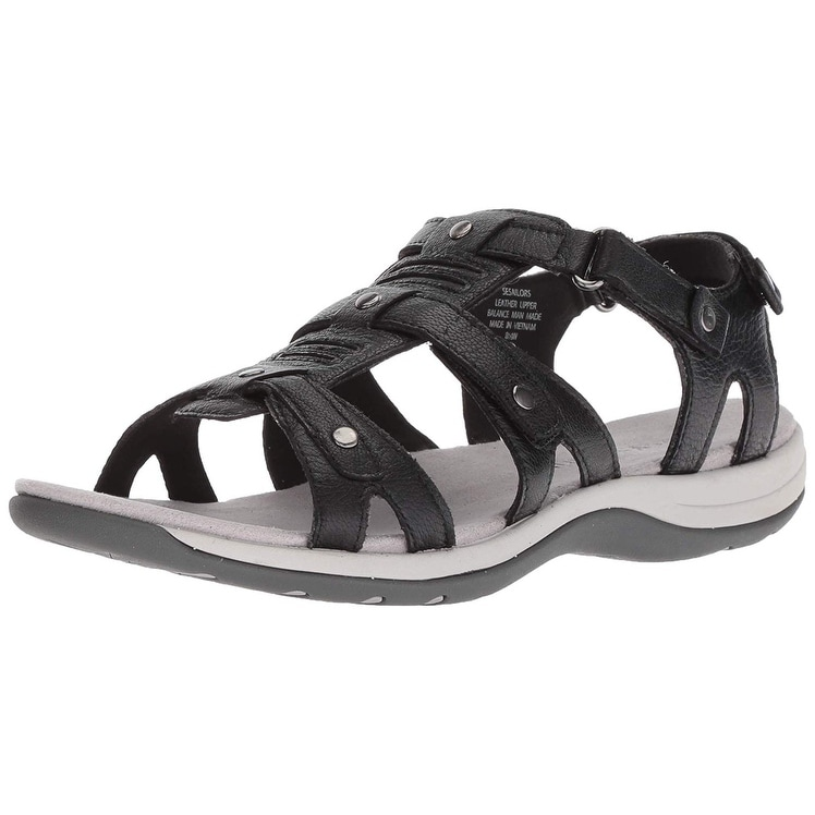 Easy Spirit Saffron Womens Sandal 11 C//D US Black
