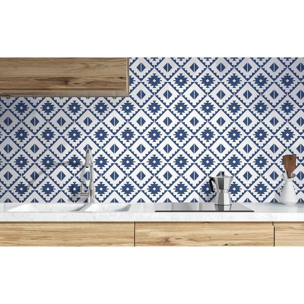 Shop Nextwall Southwest Tile Peel And Stick Wallpaper Overstock 31455312