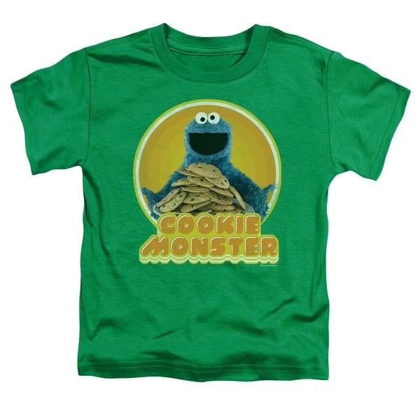 Sesame Street Cookie Iron On Little Boys Shirt