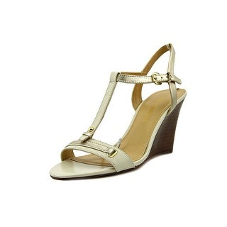 Audrey Brooke Beyond Open Toe Leather Wedge Heel