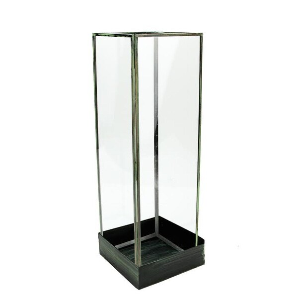 Shop 18 25 Rectangular Table Top Glass Terrarium Tower With Green