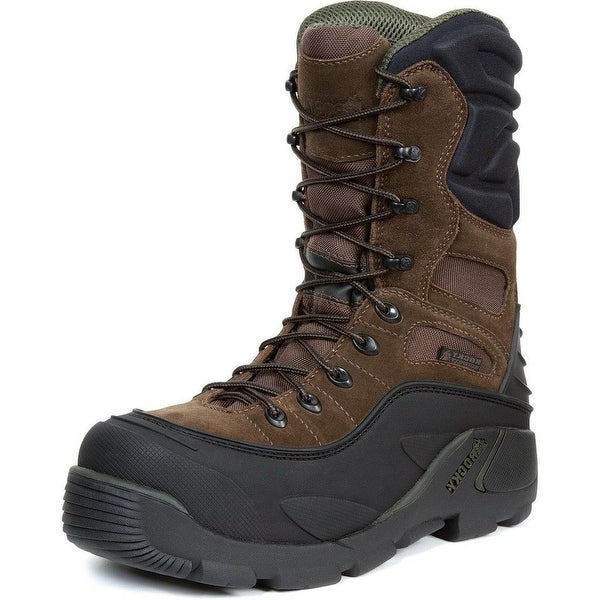 "Rocky Work Boots Mens 9"" Blizzardstalker ST Waterproof Brown"