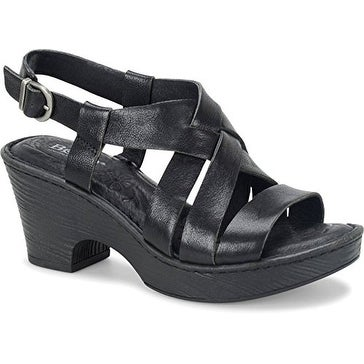B.O.C Womens Carmo Leather Open Toe Casual Platform Sandals