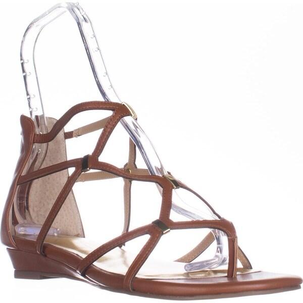 TS35 Pamella Flat Gladiator Sandals, Cognac